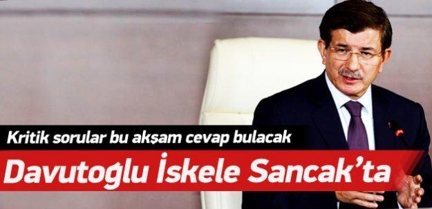 Başbakan Davutoğlu İskele Sancak'ta