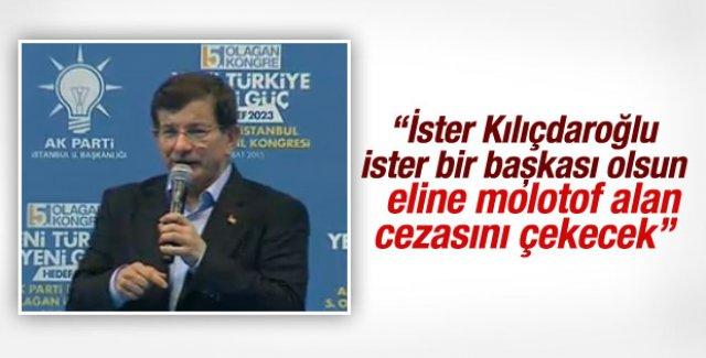 Başbakan Davutoğlu İstanbul'da konuştu