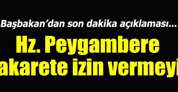 Başbakan Davutoğlu'ndan karikatür tepkisi