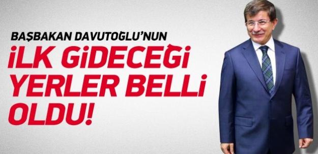 Başbakan Davutoğlu'nun ilk yurt dışı ziyaretleri