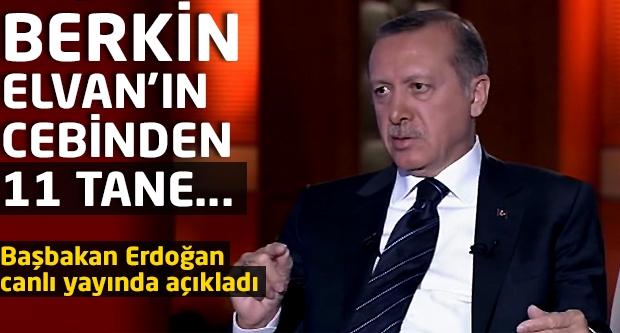 Başbakan Erdoğan canlı yayında açıkladı: Berkin Elvan'ın cebinden 11 tane...