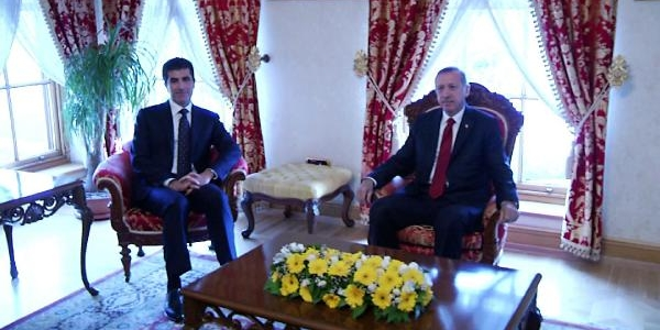 Başbakan Erdoğan Neçirvan Barzani Ile Görüştü