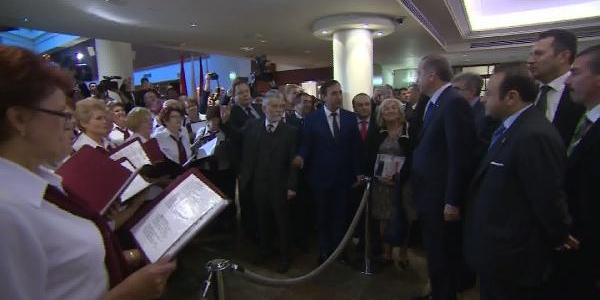 Başbakan Erdoğan'a Istiklal Ve Mehteran Marşiyla Süpriz (Fotoğraflar)