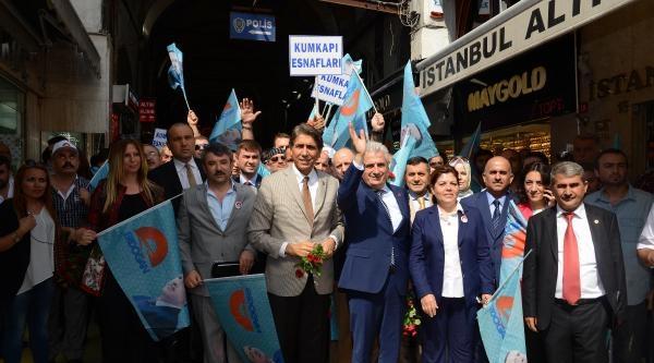 Başbakan Erdoğan'a, Kapalı Çarşi Ve Mahmutpaşa'da Destek Yürüyüşü