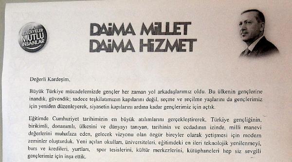 Başbakan Erdoğan'dan Diyarbakır'da 100 Bin Kişiye Seçim Mektubu