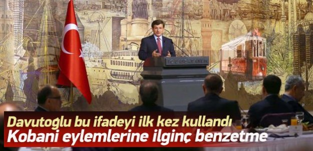 Başbakan'dan Kobani Eylemlerine ilginç benzetme