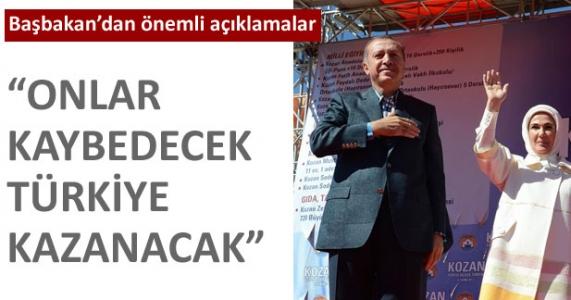 """Başbakandan önemli açıklamalar : """"Onlar kaybedecek Türkiye kazanacak"""""""