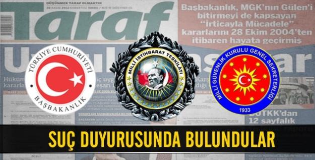 Başbakanlık ve MİT'ten Taraf'a suç duyurusu!