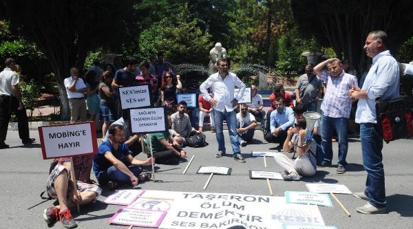 Başhekimlik Önünde 'taşerona Hayır' Protestosu