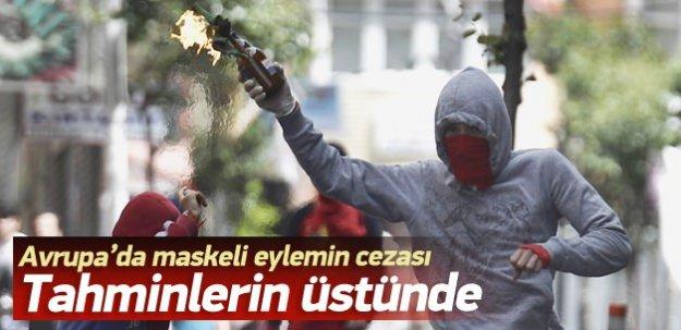 Batı'da maskeli gösterinin cezası ağır