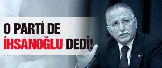 BBP de İhsanoğlu'nu destekleyeceğini açıkladı