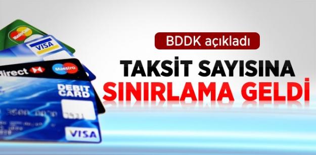 BDDK'dan Taksit Sayısına Sınırlama!