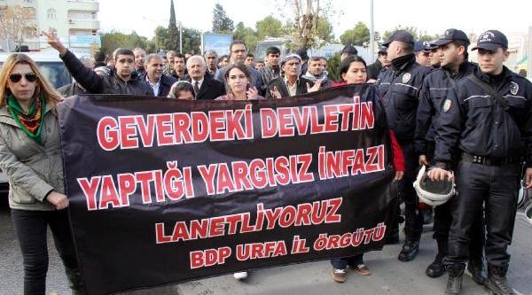 Bdp'den, Şanliurfa Ve Viranşehir'de Protesto Gösterisi