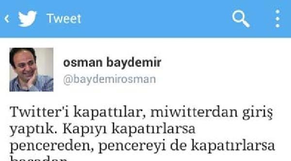 Bdp'li Baydemir'den Twıtter Yorumu: Miwitterdan Giriş Yaptık