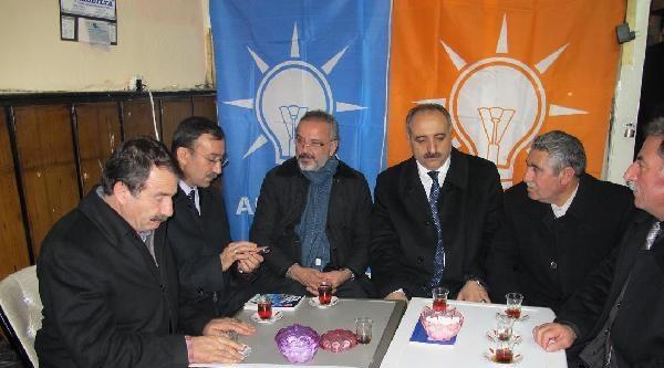 Bdp'li Sakık'tan, Ak Parti Seçim Bürosuna Ziyaret