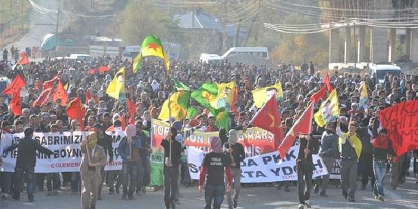 Bdp'liler Iran'i Protesto Için Sinira Yürüdüler