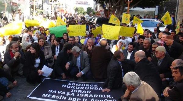 Bdp'lilerden Tutuklu Vekil Eylemi