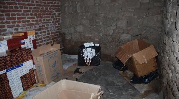 Bergama'da Bin 600 Karton Kaçak Sigara Yakalandi