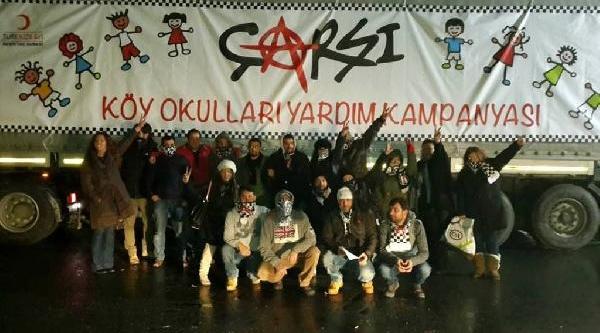 Beşiktaş'in Taraftar Grubu Çarşi'nin Yardim Tiri Harekete Geçti