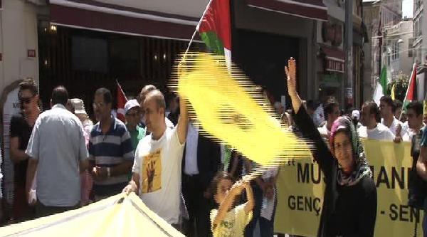 """Beyoğlu'nda """"rabia"""" Yürüyüşü"""