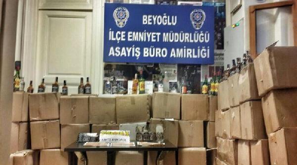 Beyoğlu'nda Sahte İçki Operasyonu