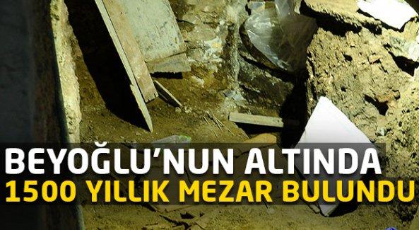 Beyoğlu'nun altında 1500 yıllık mezar bulundu