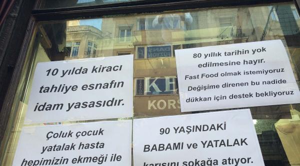 Beyoğlu'nun En Eski Dükkanına Boşaltın Tebligatı