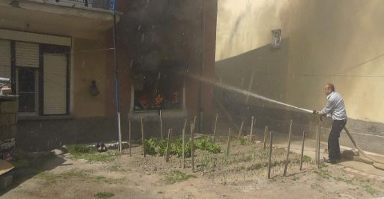 Beyşehir'de Yangın Paniği