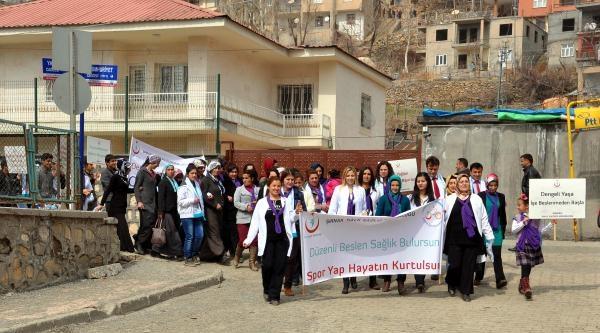 Beytüşşebap'ta Kadınlar Obeziteye Karşı Yürüdü