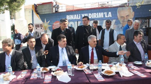 Binali Yıldırım, İzmir'in İlçelerinde Seçim Turunda