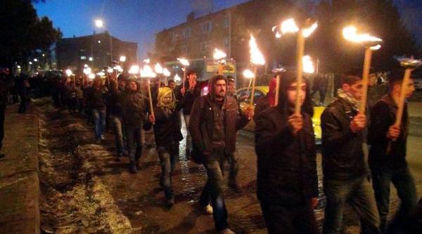 Bingöl'de Meşaleli Uludere Protestosu