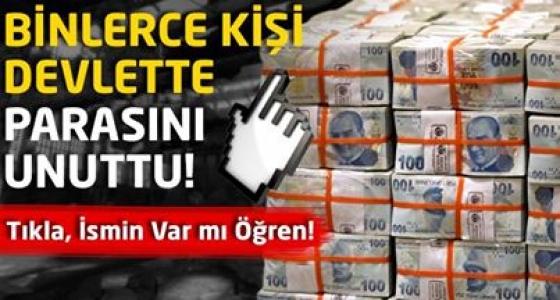 Binlerce Kişi Devlette Parasını Unuttu!