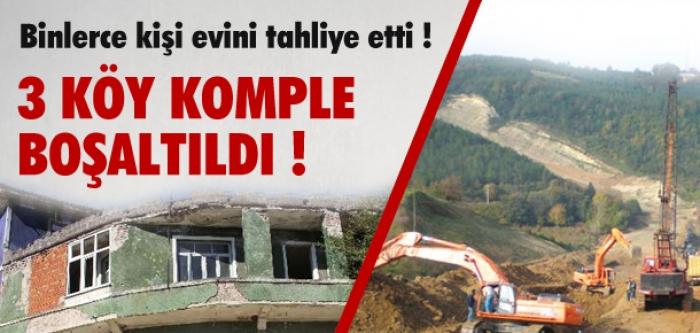 Binlerce kişi evlerini boşaltıyor!