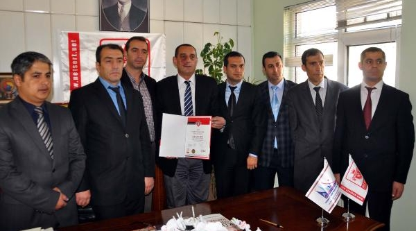 Bitlis Tso'Ya Iso 9001 Kalite Belgesi Verildi