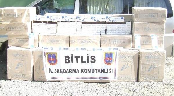 Bitlis'te 108 Bin 490 Paket Kaçak Sigara Ele Geçirildi
