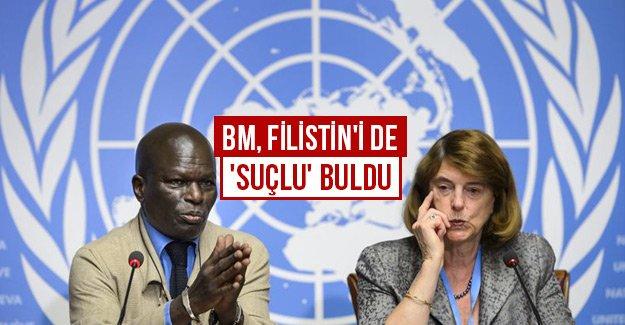 BM, Filistin'i de 'suçlu' buldu