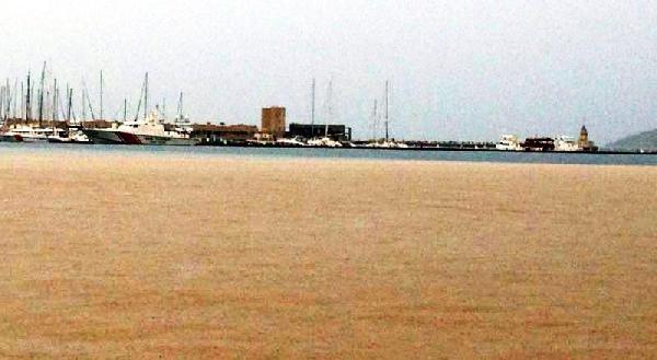 Bodrum'da Deniz Kahverengiye Döndü