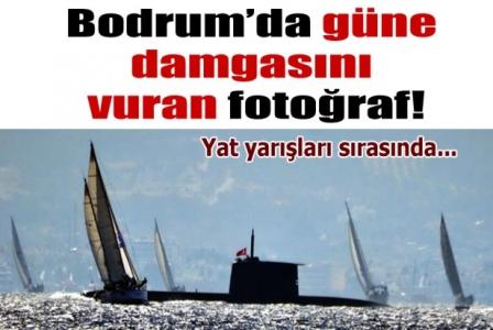 Bodrum'da güne damgasını vuran fotoğraf! Yat yarışları sırasında...