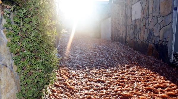 Bodrum'da İsale Hattında Patlama, Yolları Dereye Çevirdi