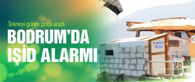 Bodrum'da IŞİD bayraklı tekne alarmı
