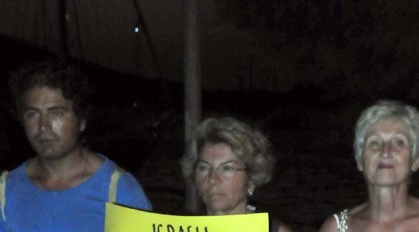 Bodrum'da İsrail Saldırılarına Protesto