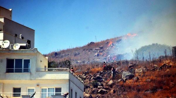 Bodrum'da Korkutan Makilik Yangını