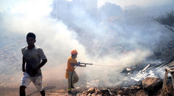 Bodrum'da Korkutan Makilik Yangını - Ek Fotoğraflar