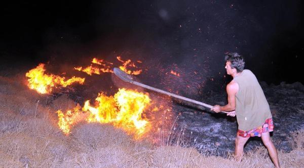Bodrum'da Maki Yangını Korkuttu