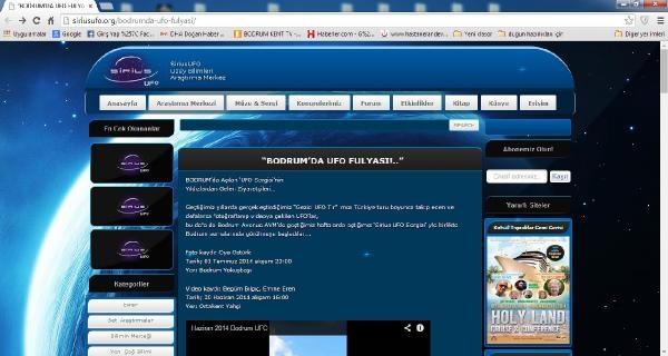 Bodrum'da Ufo Heyecanı