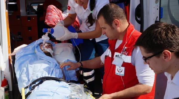 Boğulma Tehlikesi Geçiren Genç Hastaneye Hava Ambulansıyla Sevk Edildi