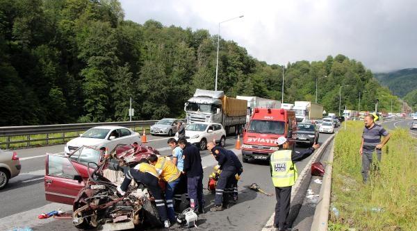 Bolu Dağı Tüneli Çikişi Kaza 1 Ölü 2 Yaralı
