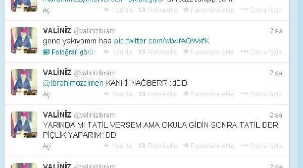 Bolu Valisi Adina Sahte Twitter Hesabi Açildi