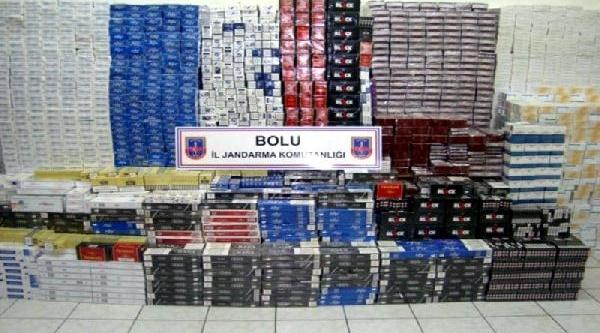 Bolu'da 18 Bin Paket Kaçak Sigara Ele Geçirildi