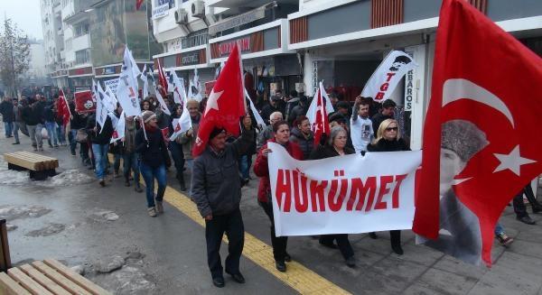 Bolu'da Yolsuzluklar Protesto Edildi